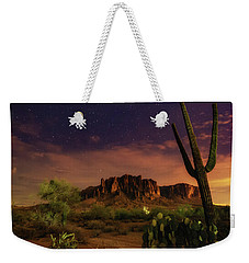 Weekender Tote Bag featuring the photograph Desert Beauty by Tassanee Angiolillo