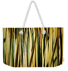 Weekender Tote Bag featuring the photograph Desert Grasses I by Leda Robertson