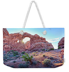Weekender Tote Bag featuring the photograph Desert Sunset Arches National Park by Nathan Bush