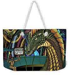 Weekender Tote Bag featuring the digital art Designated Smoking Section by Vincent Autenrieb