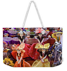 Weekender Tote Bag featuring the photograph Dia De Los Muertos Candy Catrinas by Tatiana Travelways