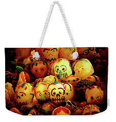 Weekender Tote Bag featuring the photograph Dia De Los Muertos Candy Skulls by Tatiana Travelways