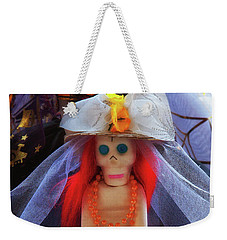 Weekender Tote Bag featuring the photograph Dia De Los Muertos Spooky Candy Catrina by Tatiana Travelways