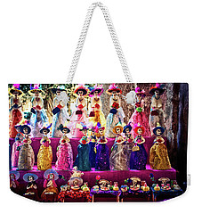 Weekender Tote Bag featuring the photograph Dia De Los Muertos Spooky Candy Catrinas by Tatiana Travelways