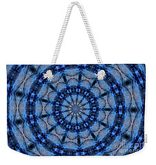 Weekender Tote Bag featuring the photograph Blue Jay Mandala by Debbie Stahre