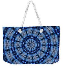 Blue Jay Mandala Weekender Tote Bag