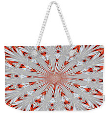 Weekender Tote Bag featuring the photograph Digitalized Cardinal by Debbie Stahre