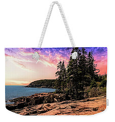 Distant View Of Otter Cliffs,acadia National Park,maine. Weekender Tote Bag
