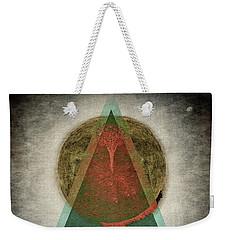 Weekender Tote Bag featuring the digital art Divided by Edmund Nagele