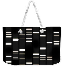 Dna Art White On Black Weekender Tote Bag