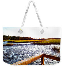 Weekender Tote Bag featuring the photograph Dock Point by Robert Knight