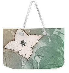 Dogwood Flower Stencil On Sandstone Weekender Tote Bag