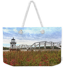 Doubling Point Lighthouse In Maine Weekender Tote Bag