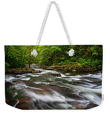 Weekender Tote Bag featuring the photograph Down The Tellico River by Andy Crawford