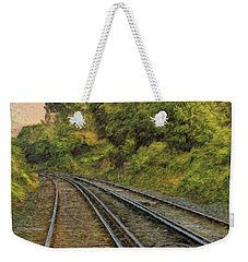 Weekender Tote Bag featuring the photograph Down The Track by Leigh Kemp