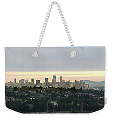 Downtown Sunset Weekender Tote Bag
