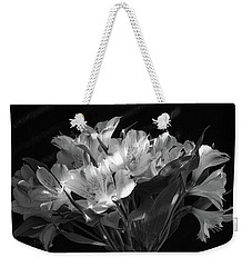 Dramatic Flowers-bw Weekender Tote Bag