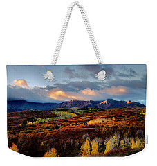 Dramatic Sunrise In The San Juan Mountains Of Colorado Weekender Tote Bag