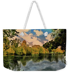 Weekender Tote Bag featuring the photograph Drawn To Water by Leigh Kemp