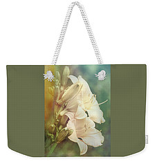 Weekender Tote Bag featuring the photograph Dreamy Lilies by Leda Robertson