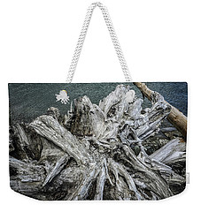 Weekender Tote Bag featuring the photograph Driftwood by Mark Duehmig