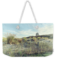 Dune Fence And Grass Weekender Tote Bag