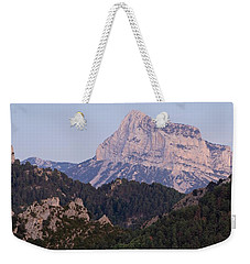 Weekender Tote Bag featuring the photograph Dusk At Pena Montanesa by Stephen Taylor