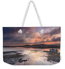 Dusky Pink Sunrise Bay Waterscape Weekender Tote Bag