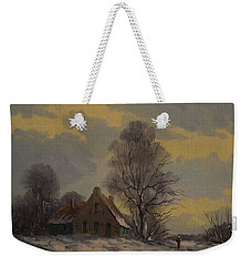 Dutch Snow Landscape Weekender Tote Bag