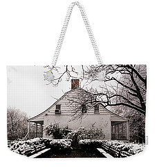 Weekender Tote Bag featuring the photograph Dyckman Farmhouse In Winter by Cole Thompson