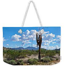 Dying Saguaro In The Desert Weekender Tote Bag