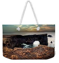 Dyrholaey Viewpoint In Iceland Weekender Tote Bag