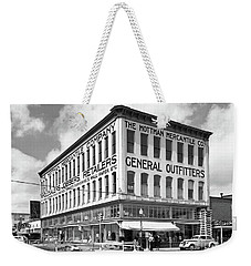 Weekender Tote Bag featuring the photograph Earthquake Mottman Bldg, April 1949 by Merle Junk