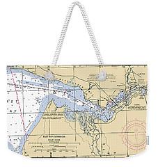 East Bay Extension Noaa Chart 11385_5 Weekender Tote Bag