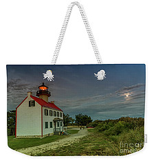 East Point Lighthouse In Moonlight Weekender Tote Bag