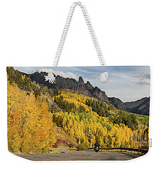 Weekender Tote Bag featuring the photograph Easy Autumn Rider by James BO Insogna