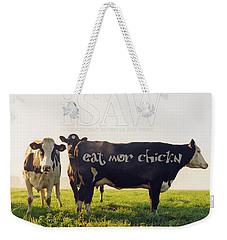 Eat Mor Chickn Weekender Tote Bag