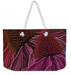 Echinacea Flower Blues Weekender Tote Bag