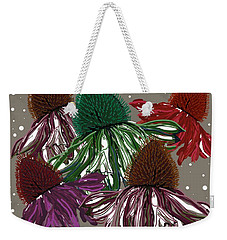 Echinacea Flowers Dance Weekender Tote Bag