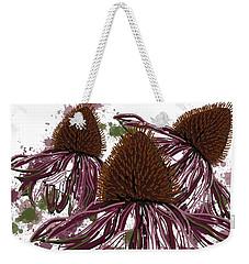 Echinacea Flowers Line Weekender Tote Bag