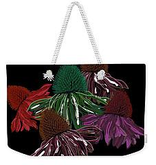 Echinacea Flowers With Black Weekender Tote Bag