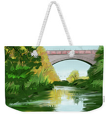 Echo Bridge Weekender Tote Bag