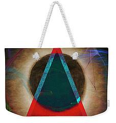 Weekender Tote Bag featuring the digital art Eclipse 2024 by Edmund Nagele