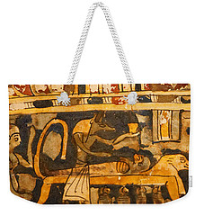 Weekender Tote Bag featuring the photograph Egyptian Wall Art by Sue Harper