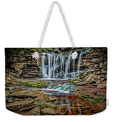 Weekender Tote Bag featuring the photograph Elakala Falls 1020 by Donald Brown
