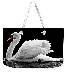 Weekender Tote Bag featuring the photograph Elegant Swan by Top Wallpapers