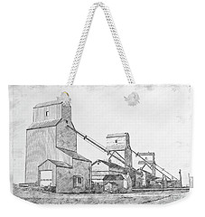 Weekender Tote Bag featuring the drawing Elevator Row by Brad Allen Fine Art