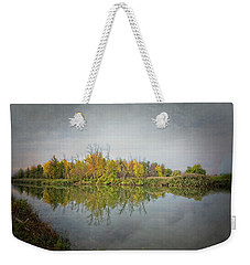Weekender Tote Bag featuring the photograph Ellicott Creek Reflections by Guy Whiteley