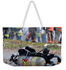 Weekender Tote Bag featuring the photograph Empty by Carl Young
