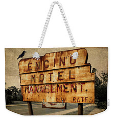 Weekender Tote Bag featuring the photograph Encino Hotel by Lou Novick